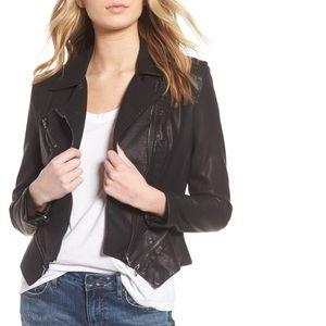 Black Faux Leather Moto Jacket Nordstrom